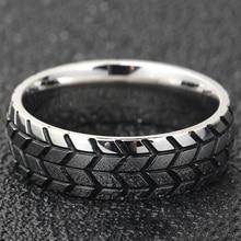 Мужское кольцо из нержавеющей стали золотого и серебряного цвета, крутые мотоциклетные кольца для шин в стиле хип-хоп, панковские геометрич...