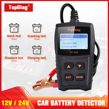 TopDiag car charging system test Car Battery Tester Cranking System Test DC 12V Analyzer LCD Screen Diagnostic Too