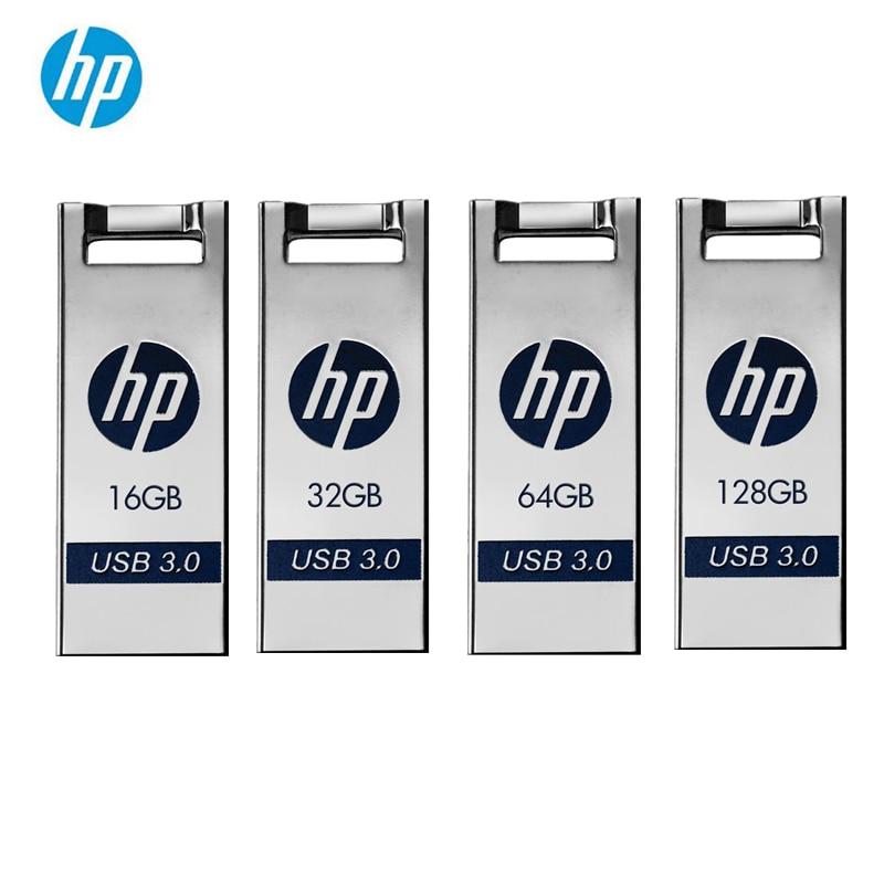 Original HP Metal Flash Disk 128GB 64GB 32GB 16GB USB Flash Drive USB 3.0 Memory Stick Pendrive X795W