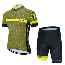 2020 NW North Wave Cycling Jersey Summer Suit Cycling Wear Maillot Cycling Wear MTB Sportswear Cycling Wear cheap FUALRNY Factory Direct Sales Short Sleeve 80 Polyester and 20 Stretch Spandex Jersey Sets GEL Breathable Pad 100 Polyester