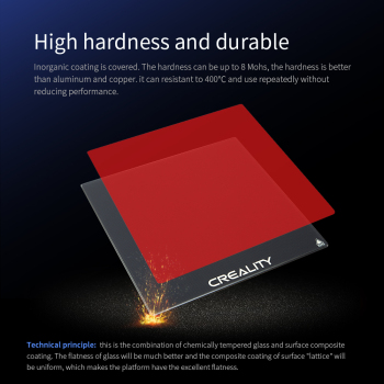 CREALITY 3D Tempered Glass Build Platform Size 235*235*4mm For Ender-3/Ender-3 Pro/Ender-3 V2 Printer creality ender 3 ender 3 pro 3d printer economic ender diy kits with resume printing function 220x220x250mm shipping from moscow