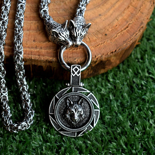 NORSE VIKINGS WOLF NECKLACE