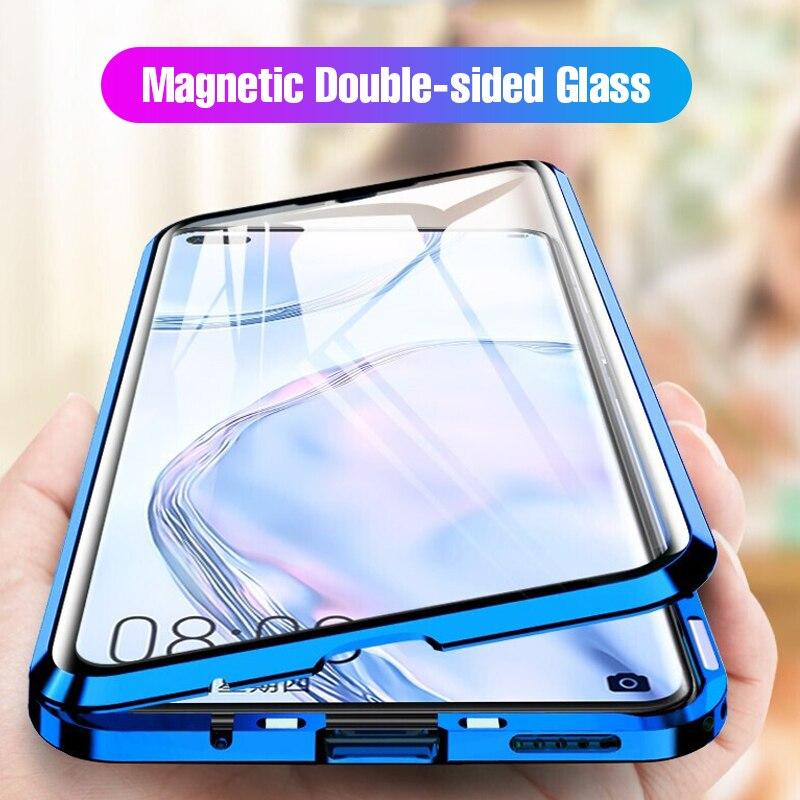 Магнитные Металлические двухсторонние Стекло чехол для телефона подходит для P40, P40Pro, P40 Lite