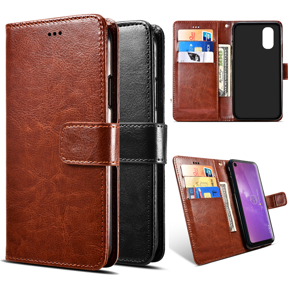 <font><b>Motorola</b></font> Moto 1s G6 Z3 E5 G7 One <font><b>Vision</b></font> P30 Note Play Plus Power Go Edition <font><b>Case</b></font> Flip PU Leather Stand Phone Wallet Coque Bags image