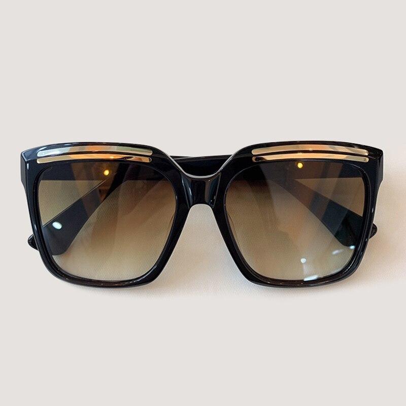 Luxury Oversize Women Men Sunglasses 2019 Acetate Frame Brand Square Sun Glasses Female UV400