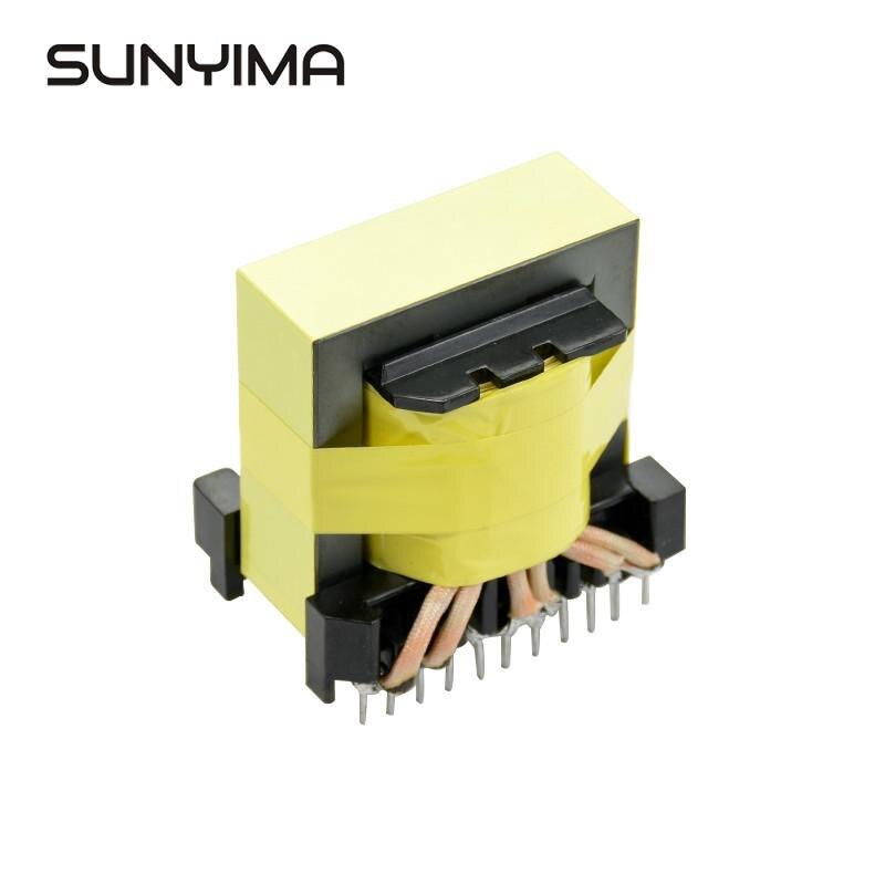sunyima personalizar o tipo vertical horizontal tipo ee55b inversor de cobre puro primario transformador de alta