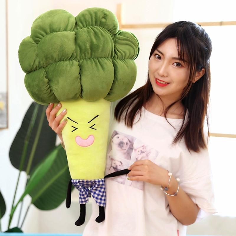 1pc 55 / 65cm cartoon vegetable plush toy creative broccoli pillow children soft birthday gift