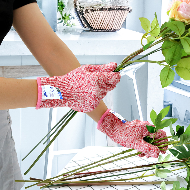 Hot Sale 4 Pairs Four Color GMG HPPE Food Grade For Kitchen Anti cut Level 5
