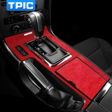 Alcantara Console Versnellingspook Panel Centrale Controle Auto Stickers Accessoires Decoratie Voor Ford Mustang 2009 2013