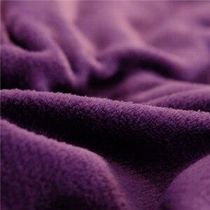 Image 4 - Manta de cama de felpa de doble cara para invierno, suave y cálida, franela, cordero, Cachemira, funda de edredón, mantas clásicas, regalo de Año Nuevo