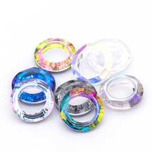 10pcs Jewelry Accessories Weding decorations Crystal Glass rhinestones Angel Ring for Pendant DIY crystal Clear jewelry applique