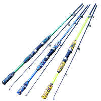Neue ultra casting Spinning rod M Power 1,5 M 1,8 M 3-21g FRP Lure Fishing pole Carbon faser Tragbare