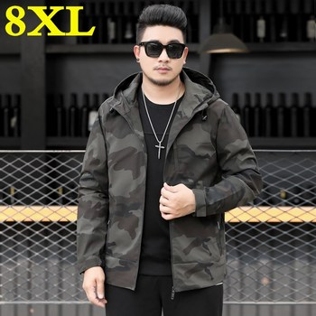 spring and autumn big Plus size 8XL 7XL 6XL 5XL 4XL Camouflage Jacket Men Hoodie Jacket High Quality