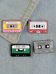 Lapel Pins Badges Jewelry Typewriter Shark-Brooch Hedgehog Vintage-Tape Gift Animal Enamel-Pin