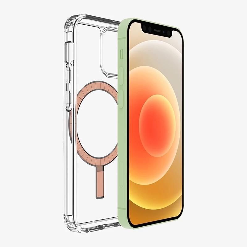 Transparent Magnetic Magsafe Card Holder case for iPhone 12