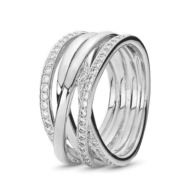 Кольцо на палец в форме сердечко серебряного цвета для женщин, европейская оригинальная Корона, изящные кольца на палец, свадебные украшения, 50 стилей, Прямая поставка - Цвет основного камня: Rings 032