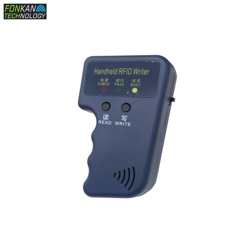 FKONKAN, manual, 125Khz, EM4100, lector RFID, copiadora, escritor, duplicadora (T5577/EM4305/TK4100), duplicadora de llaves de puerta, rfid Lector de fotocopiadora de tarjetas RFID NFC, duplicador inglés, programador de frecuencia 10 para tarjetas de ID IC y todas las tarjetas 125kHz + 5 uds. ID 125k