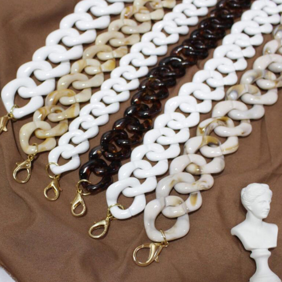 Fashion Acrylic Resins Bag Strap Handbags Accessories Resin Purse Belt Handbag Detachable Luxury Shoulder Belt Straps Lady Brand