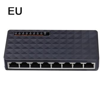 5/8 Port Gigabit Switch 10/100Mbps Network Ethernet Switch Smart Vlan Network Switch Lan Hub Full or Half duplex Exchange poe switch 8 port network switches hub full duplex