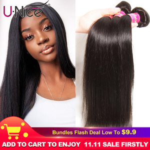 UNICE HAIR Peruvian Straight Hair Bundles Natural Color 100% Human Hair Extensions 8-30