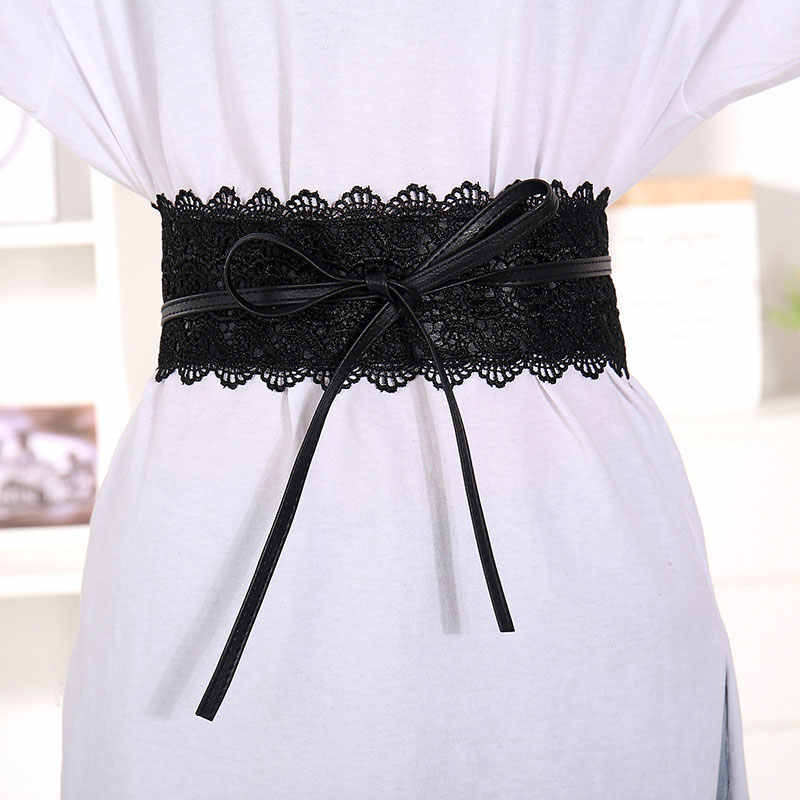 Fioday Lace Waist Wrap Belt for  Women Autumn Fashion Ladies Soft Wide Belts for Dress Party Waist Supplies Mujer Dropshipping