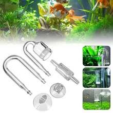 Аквариум Nicrew 4 в 1, стеклянный соленоидный регулятор пузырьков CO2 для самостоятельной сборки, распылитель CO2 для аквариума, живых растений