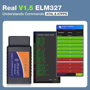 ELM327 V1.5 PIC18F25K80 Chip OBD2 Code Reader Bluetooth J1850 Power Switch on/off 12V OBDII ELM 327 Diagnostic tool Scanner 2
