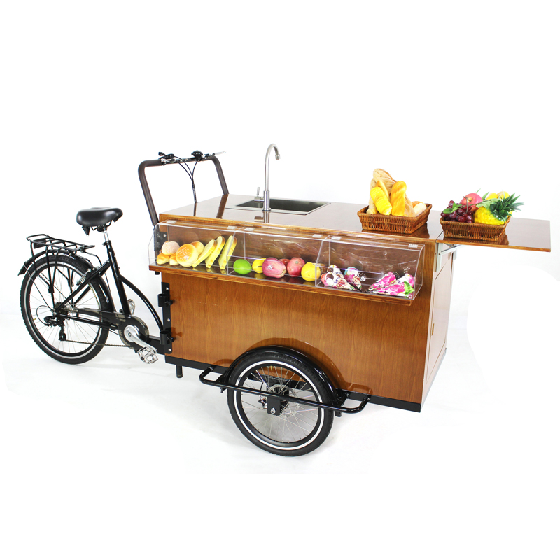 Very conveniently to use Europe street mobile coffee truck for sale with three wheels and best quality