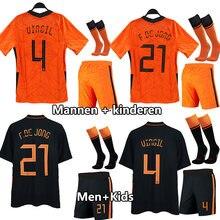 Camisa da equipe nacional holandesa 2021 crianças camisa de futebol para meninos e homens roupas infantis kit traingspak treino adulto os jovens