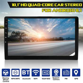 Universal Car Radio 2Din 10.1 inch Android 8.1 Multimedia Player GPS WIFI Player with Backup Camera 1+16G for Toyota for Hyundai image