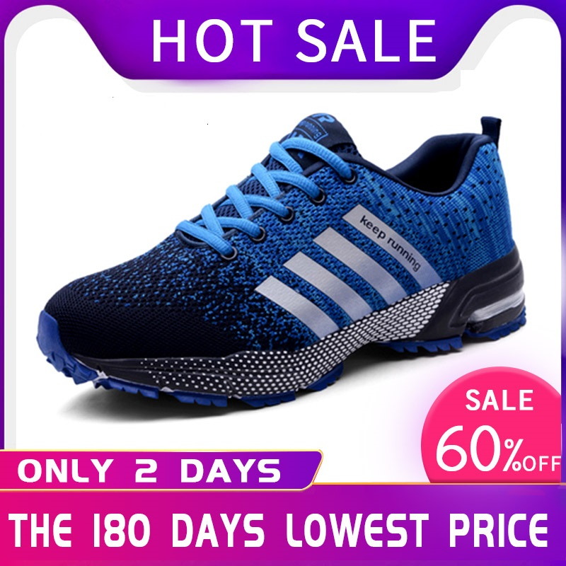 47 48 Popular Men's Casual Breathable Running Shoes Rubber Large Size Sports Shoes Comfortable Mesh Fashion (Air mesh) Shoes