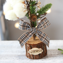 Artificial Tabletop Mini Christmas Tree Decorations Festival Miniature 25cm Home Decoration Accessories Room