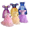 Girls Rapunzel Snow White Dress Kids Belle Aurora Sofia Summer Fancy Princess Costume Children Halloween Birthday Party Dresses