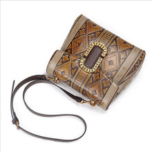 Retro Real Leather Women Crossbody Bag Female Causal Shoulder bag for Daily Shopping Lady Fashion High-end Brown Messenger Bag(China)