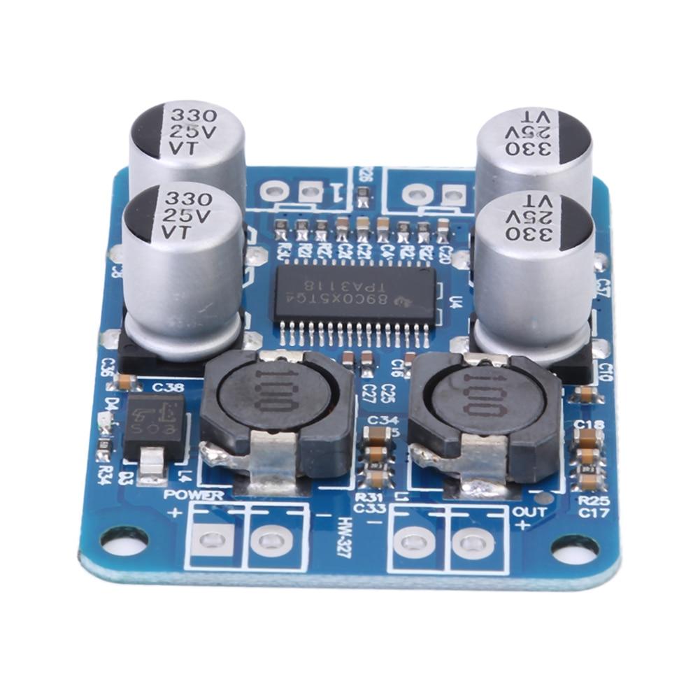 DC8-24V TPA3118 PBTL 60W Mono Digital Audio Amplifier Board AMP Module Chip 1X60W 4-8 Ohms Replace TPA3110 For Arduino