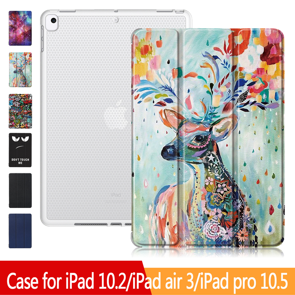 IPad Cover For IPad 7th Generation Case, New IPad 10.2 Case With Pencil Holder, IPad 10.5 & IPad Air 3 Protective Cover