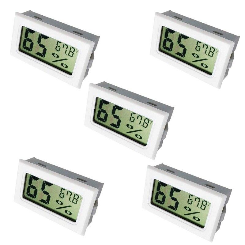 Humidity Gauge  Digital Hygrometer Indoor Outdoor Hygrometer Thermometer (°F) For Humidors Home Car Greenhouse(5 Pack)|  - title=