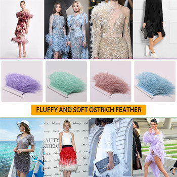 Factory Sale 53 Colors 10 Yards 10-15cm Fluffy Ostrich Feather Trim for DIY Sewing Crafts/Jewelry Making Free Shipping