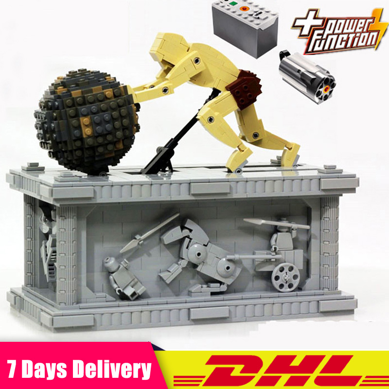 IN Stock 23017 1462Pcs Genuine Technic The MOC Sisyphus Moving Building Blocks Bricks Toys With Motor Compatible  1518