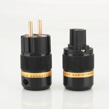 Viborg audio 1 paar VE501 + VF501 Reines Kupfer Keine überzogene EU Schuko Power Stecker IEC Buchse für DIY power kabel