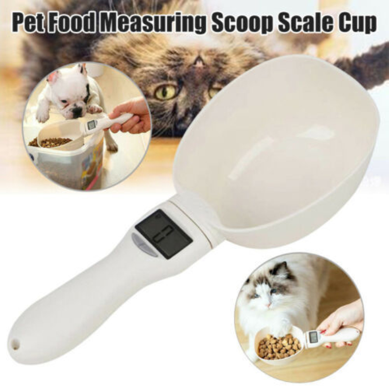 Portable 250ML/800G Pet Food Water Measuring Spoon Cup With Led Digital Display Kitchen Scale Scoop Pet Feeding Supplies