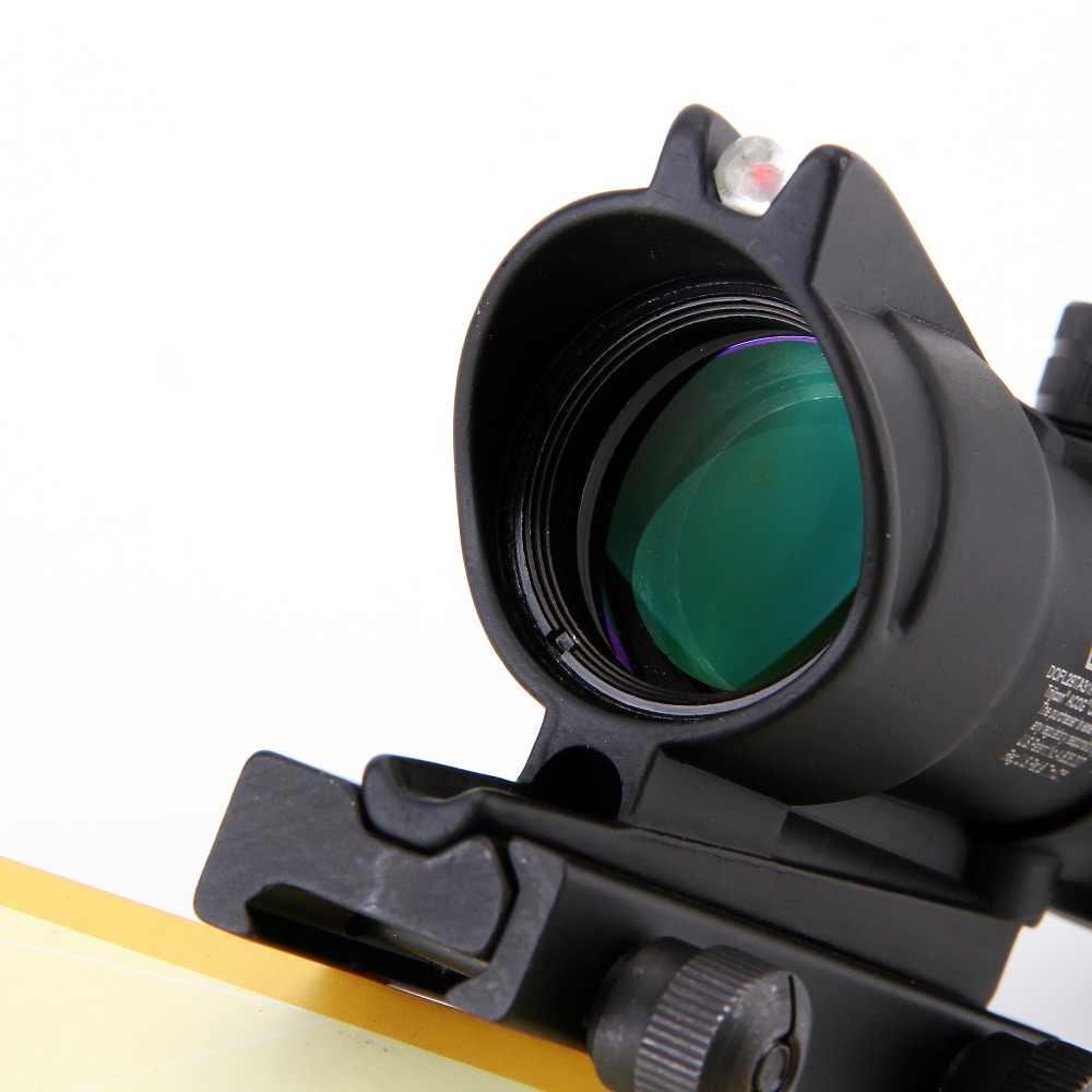 للصيد منظار البندقية شيفرون أكو 4X32 نطاق بصري من الألياف الحقيقية أحمر أخضر مضاء زجاج محفور شبكاني رؤية بصرية تكتيكية