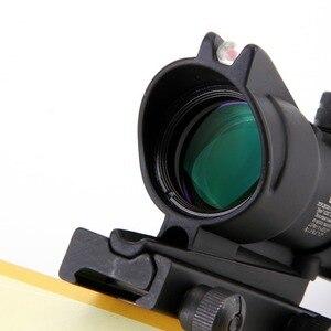 Image 5 - Arme de chasse Chevron ACOG 4X32, véritable Fiber optique, objectif rouge vert, verre illuminé réticule de tactique, vue optique