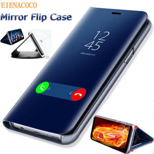 Smart-Phone-Case Mirror Flip-Stand-Cover 10-Plus case S7-Edge Note 9 Samsung Galaxy S10