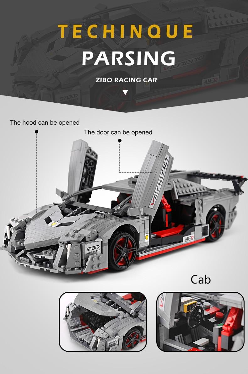 MOULD KING 13110 Lamborghini Veneno Roadster