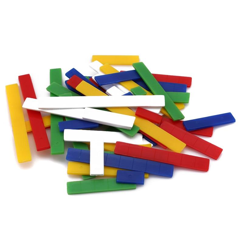 50 шт./компл. Пластик Монтессори линейки для арифметики для раннего развития детей детские математические обучения подсчет математические