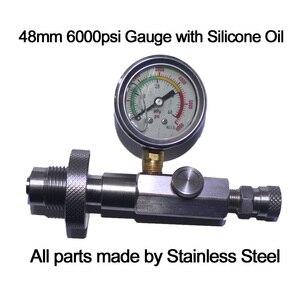 Image 5 - مسدس هواء جديد PCP بندقية هواء من الفولاذ المقاوم للصدأ DIN تعبئة مهايئ شحن خرطوم HPA أسطوانة غاز كبيرة إلى أسطوانة صغيرة