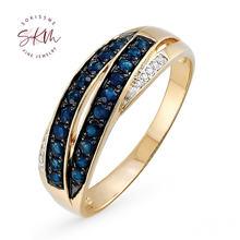 Skm модные кольца для женщин сапфировые винтажные обручальные