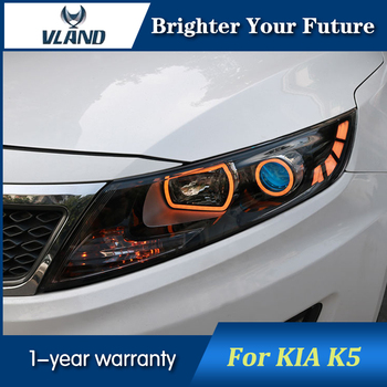 VLAND Car Head Lamp Assembly For Kia Optima/K5 Headlights 2011 2012 2013 Double-lens Xenon Head Lights