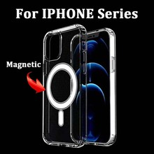 Sinzean 20PCS Magnetic Charging Case For iPhone 12 Pro MAX XS XR Clear Soft TPU For IPHONE 12 MINI 11 PRO MAX Silicone Case